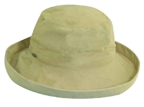 Scala Drawstring Cotton Hat (Natural)