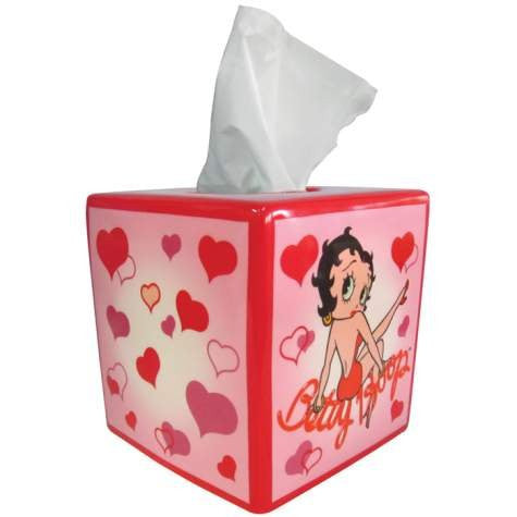 Betty Boop Hearts Tissue Box Cover