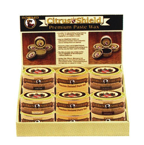 12 Pack Assorted Howard Citrus Shield Paste Wax Assortment