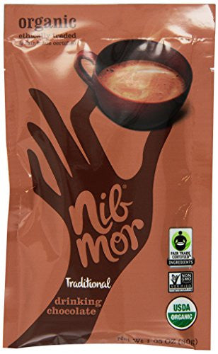 Nibmor Organic Drinking Chocolate Traditional At least 95% Organic 1.05 oz