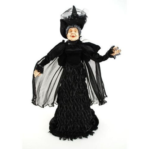 """Mrs. Haversham"" Witch Doll, Fabric/ Porcelain, 24"""