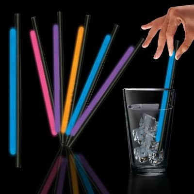 "9"" Assorted Glow Straws 25/Tube"