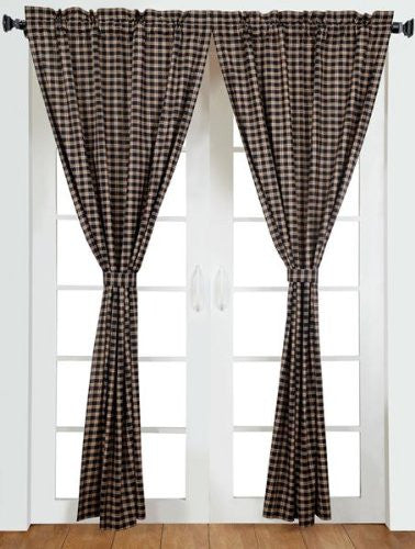 Bingham Star Panel Plaid Set of 2 84x40""
