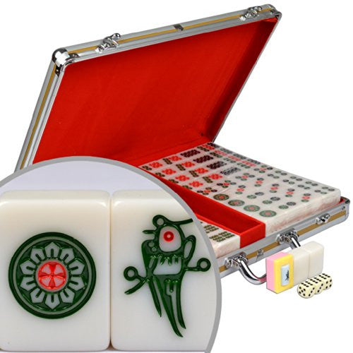 Professional Chinese Mahjong Set w/ Aluminum Case - Large