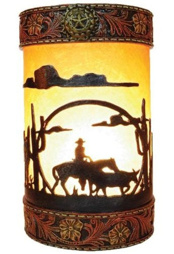 Lone Cowboy Table Top Light