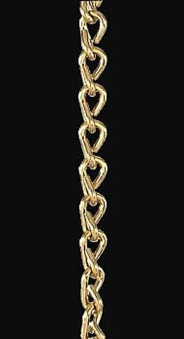 #16 Brass Double Jack Chain, Price Per Foot