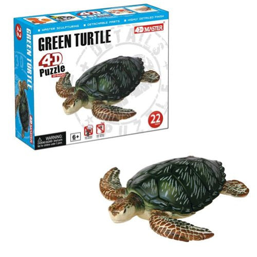 Green Turtle 4D Puzzle