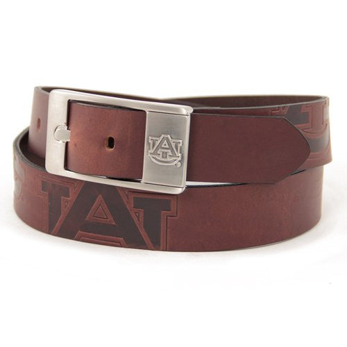 Auburn Tigers NCAA Brandish Leather Belt - Size 38