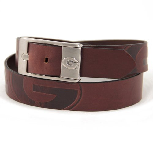 Georgia Bulldogs NCAA Brandish Leather Belt - Size 32
