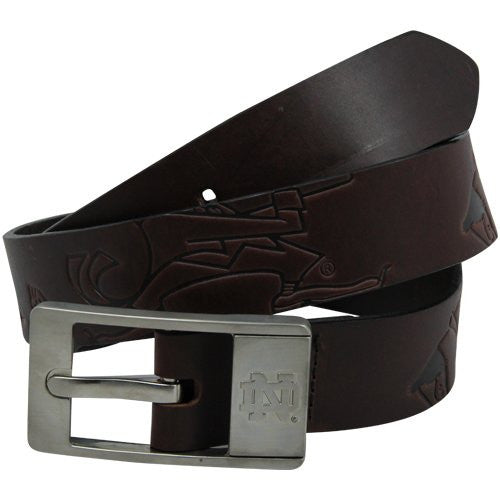 Notre Dame Fighting Irish NCAA Brandish Leather Belt - Size 42