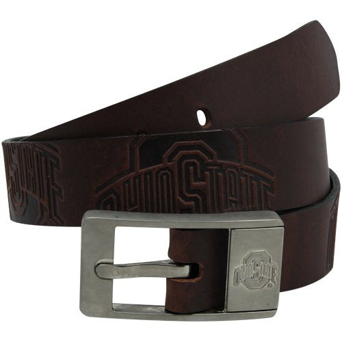 Ohio State Buckeyes NCAA Brandish Leather Belt - Size 34