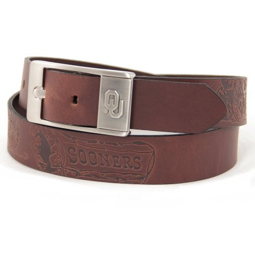 Oklahoma Sooners NCAA Brandish Leather Belt - Size 36