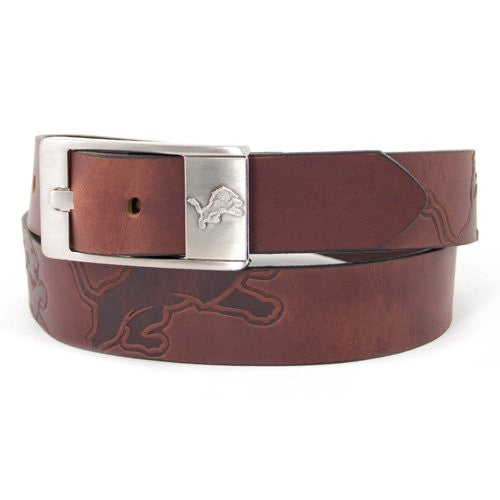 Detroit Lions NFL Brandish Leather Belt - Size 36