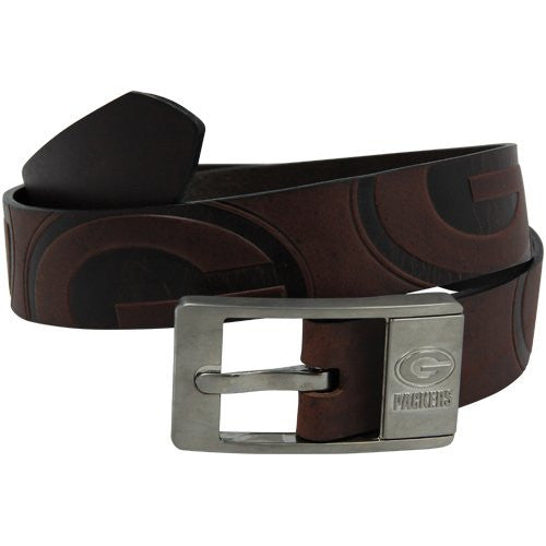 Green Bay Packers NFL Brandish Leather Belt - Size 34