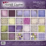 "Heartfelt Double-Sided Paper Collection 12""X12"" 24/Pkg, Delicate Asters"