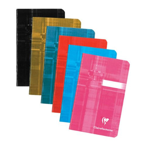 Clairefontaine Classic Notebooks Side Staplebound 3 ½ x 5 ½ in. Lined Assorted Covers 48 sheets