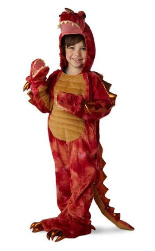 Hydra the 3 Headed Dragon Jumpsuit w/ Attached Hand Covers S(6)