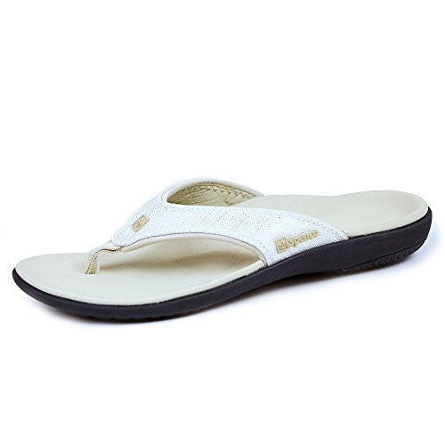 Spenco Yumi Gold Canvas Women's, White Gold Size 8