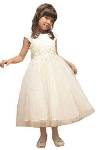 Little Girls' Angelic Tulle Dress - Ivory, Size 2
