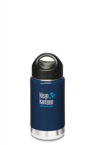 Klean Kanteen Wide Insulated Bottle with Stainless Steel Loop Cap (Night Sky, 12-Ounce)
