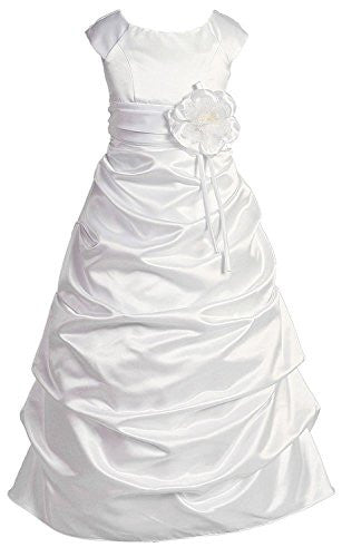 Girls Sophisticated Dress - White, Size 14