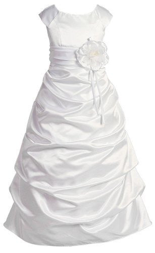 Girls Sophisticated Dress - White, Size 16