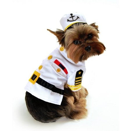 Sea Captain Dog Costume, Small
