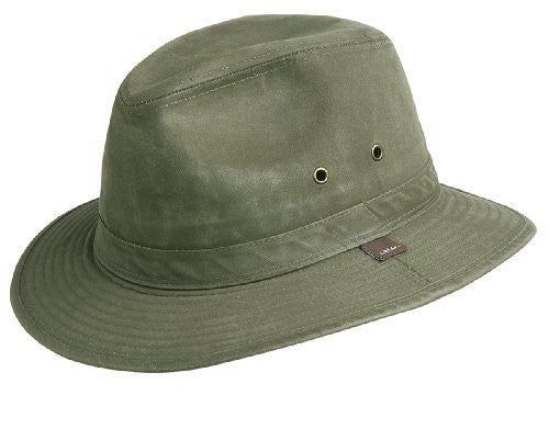 Crushable Weathered Safari Hat - Loden, Large
