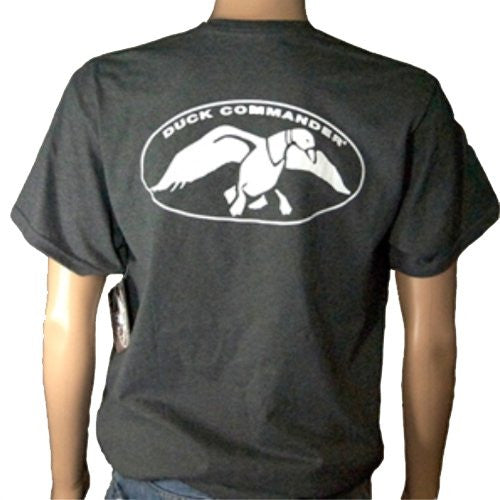 Duck Commander - Charcoal - Men's Duck Hunting T-Shirt NEW Grey Logo Tee Dynasty - Xlarge