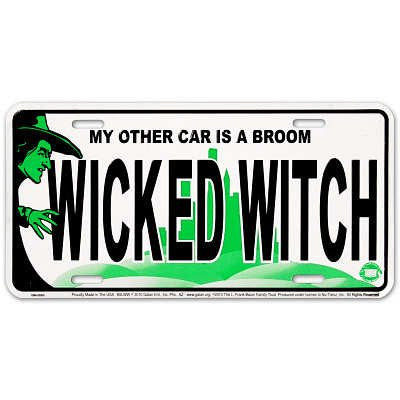 License Plate: Wicked Witch Sign (6X12)