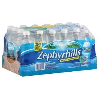 Zephyrhills® Brand Natural Spring Water, Office Pack, 16.9 Oz., 24/Case