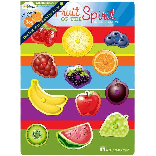 12 Pc Fruit of the Spirit Peg Puzzle