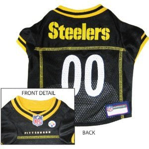 Pittsburgh Steelers - NFL Dog Jerseys, black w/ yellow trim, x-large
