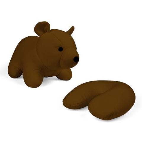 ZIP & FLIP BEAR HEAD REST BROWN