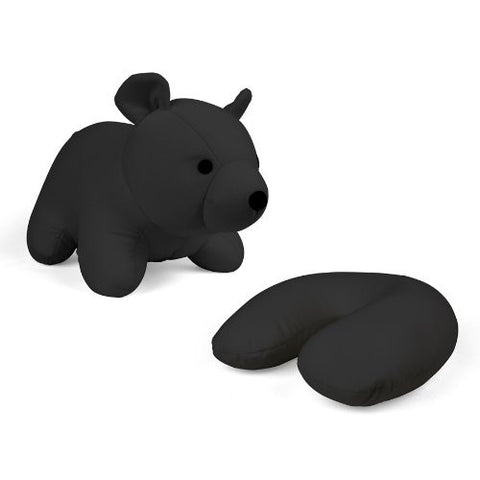ZIP & FLIP BEAR HEAD REST BLACK