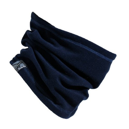 Lightweight Single-Layer Micro Fur Fleece Neck Warmer, Navy
