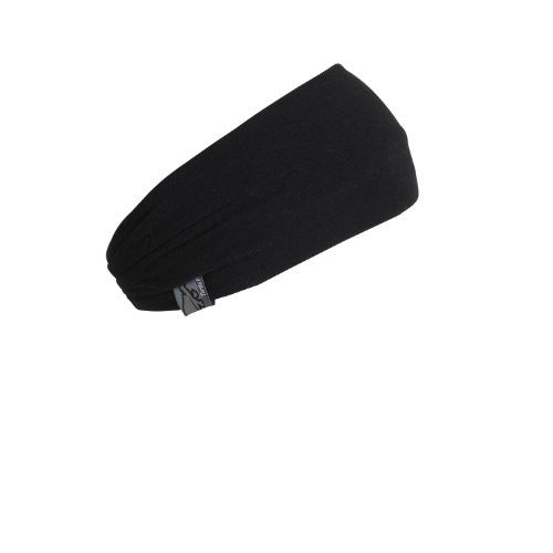 DD Headband, Midweight Double-Layer Micro Fur Fleece, Black