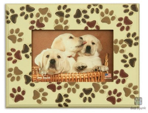 "All over pawprints - 7"" x 9"" Picture Frame"