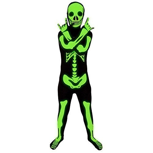 Glow Skeleton Kids Morphsuit Medium