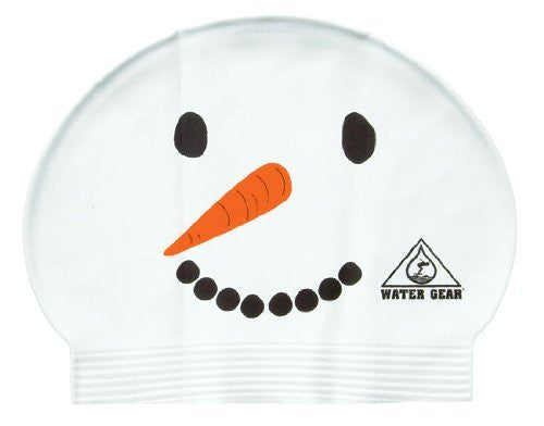 Water Gear Snowman Latex Swim Cap