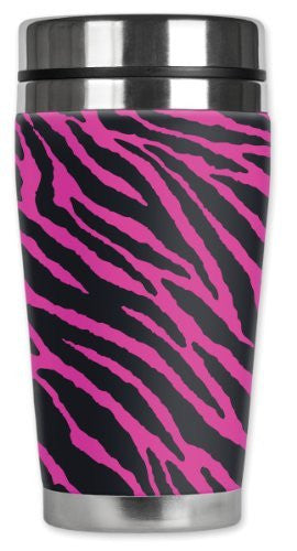 Travel Mug - Pink Zebra