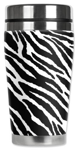 Travel Mug - Black & white Zebra