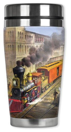 Travel Mug - Currier & Ives Train