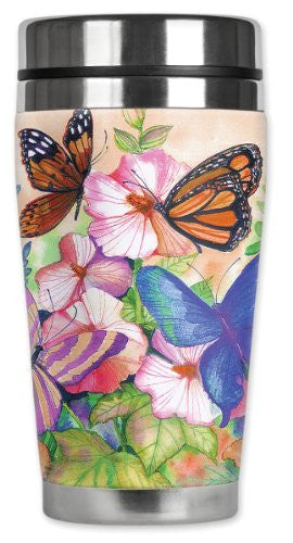 Travel Mug - Garden Butterflies