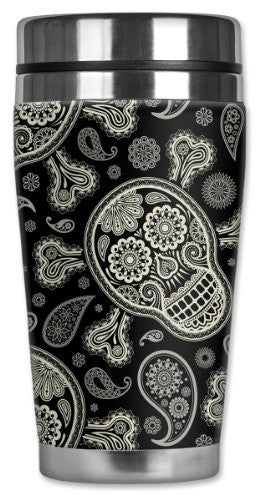 Travel Mug - Paisley Skull & Crossbones