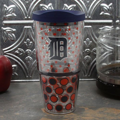 MLB Detroit Tigers Polka Dot Wrap (24oz) with Lid