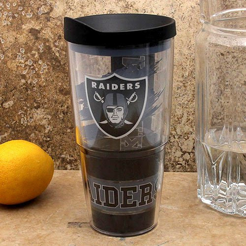 NFL Oakland Raiders Wrap with Lid 24oz Tumbler