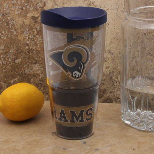 NFL St. Louis Rams Wrap with Lid 24oz Tumbler.