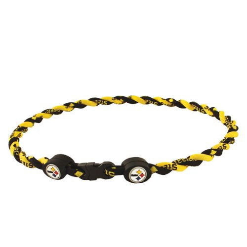 Pittsburgh Steelers Titanium Twist Necklace 21""