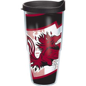 Collegiate South Carolina, University of Colossal Wrap with Lid 24oz Tumbler